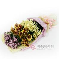 소국화3단 (꽃다발)